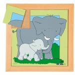Пазл - квадратики «Слоны», Educo, Арт. 522280