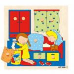 Пазл-вкладыш с секретом «В спальне»  Educo арт. 522402