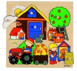 Пазл-вкладыш с секретом «На ферме»  Educo арт. 522650