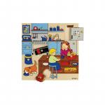 Пазл-вкладыш с ручкой «На кухне», серия «Мой дом»  Educo арт. 522915