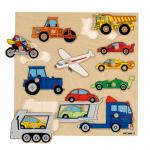 Пазл-вкладыш с ручкой «Виды транспорта» Educo 522924