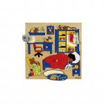 Пазл-вкладыш с ручкой «В детской комнате», Educoарт. 522917