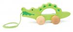 Каталка c верёвочкой маленькая «Крокодил», Наре арт. 0907