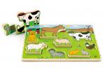 Пазл - вкладыш объёмный «На ферме», Наре арт. Е1450А