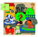 Пазл-вкладыш с секретом «Зоопарк», Educo арт. 522653