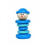 Погремушка «Весёлый клоун», голубой, Наре арт. Е0005А