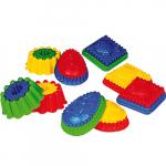 Формочка для песка двухцветная, с рисунком, SPIELSTABIL, арт. 7401