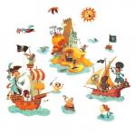 "Наклейки  ""Пираты"", DJECO арт. Q8839"